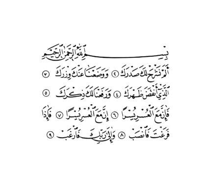 Al-Sharh 94, 1-9