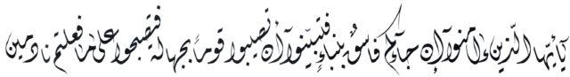 Al Hujurat 496 Diwani