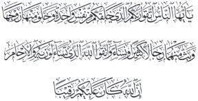 Al Nisa 41 Thuluth
