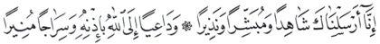 Al-'Ahzab 33, 45-46