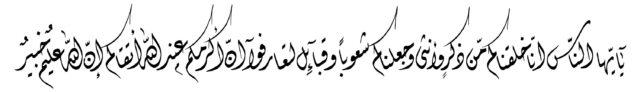 Al Hujurat 49 13 Diwani