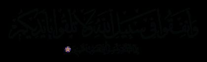 Al-Baqarah 2, 195
