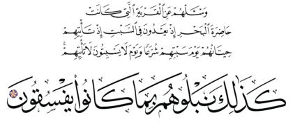 Al-A'raf 7, 163