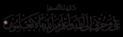 Yusuf 12, 86