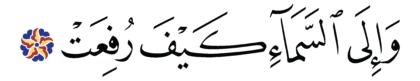 al-Ghāšiyah 88, 18