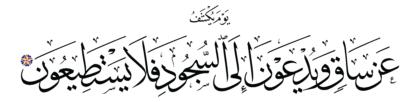 Al-Qalam 68, 42