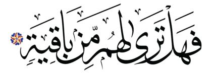 Al-Hâqqah 69, 8