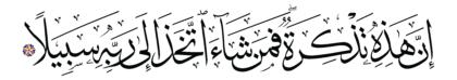 Al-Muzzammil 73, 19