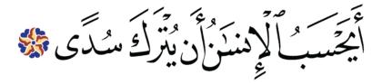Al-Qiyâmah 75, 36