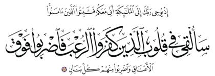 Al-Anfal 8, 12