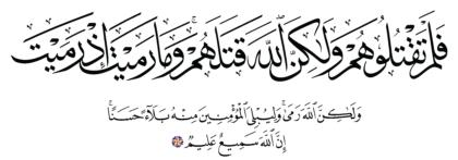 Al-Anfal 8, 17
