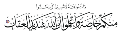 Al-Anfal 8, 25