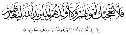 Al-Tawbah 9, 55