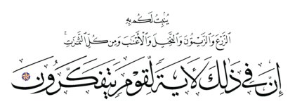 Al-Nahl 16, 11