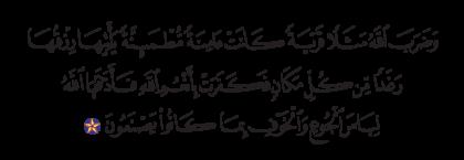 Al-Nahl 16, 112