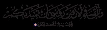 Al-Nahl 16, 15