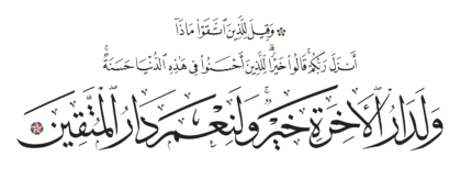 Al-Nahl 16, 30