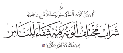Al-Nahl 16, 69