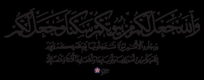 Al-Nahl 16, 80