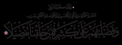 Al-Isra' 17, 70