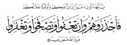 Al-Taghabun 64, 14