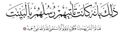 Al-Taghabun 64, 6