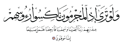 Al-Sajdah 32, 12