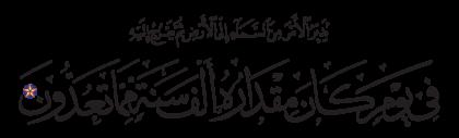 Al-Sajdah 32, 5
