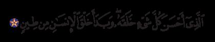 Al-Sajdah 32, 7