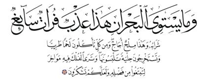 Al-Fatir 35, 12
