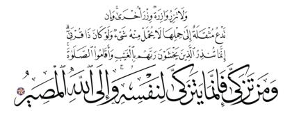 Al-Fatir 35, 18