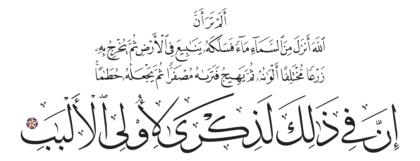 Al-Zumar 39, 21