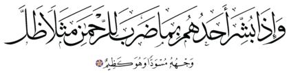 Al-Zukhruf 43, 17