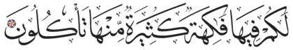 Al-Zukhruf 43, 73
