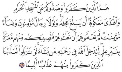 Al-Fath 48, 25