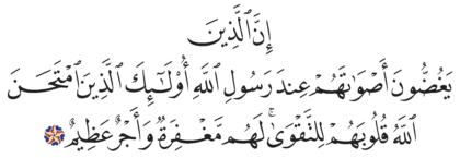 Al-Hujurat 49, 3