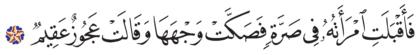 Al-Dhariyat 51, 29
