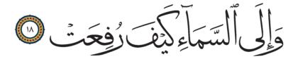 Al-Ghashiyah 88, 18