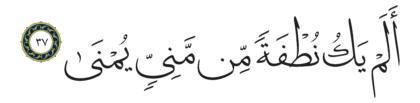 Al-Qiyâmah 75, 37