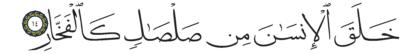 14 ،55 الرحمن