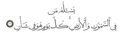 29 ،55 الرحمن
