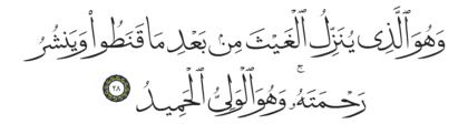 Al-Shura 42, 28